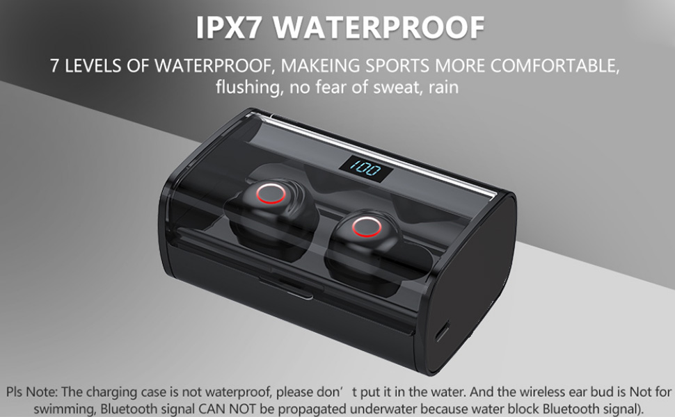 IPX8 Waterproof wireless earbud bluetooth earphone
