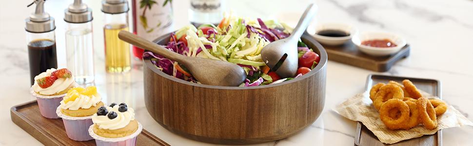 wooden serving bowl