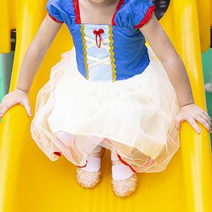 Yellow Gold Princess Girls Costume Flats Shoes