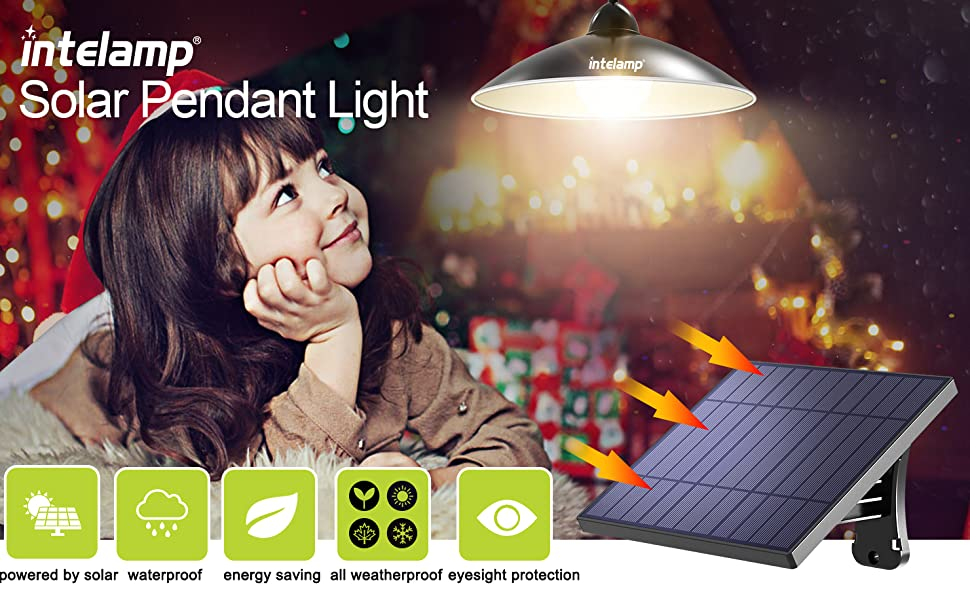 Intelamp solar pendant light