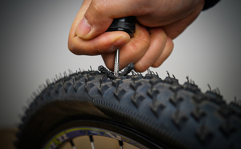 Suitable for mountain bikes Tubeless Bike Tyre Repair Kit with 10 pack plugs