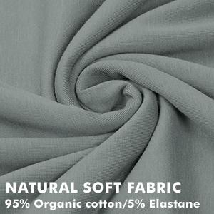 organic cotton soft stretchable next to skin elastane stretch soft hypoallergenic fabric