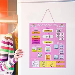 calendario de clima para niños
