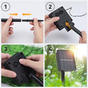 garden lights solar powered
