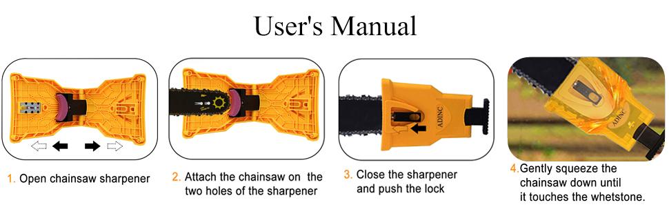 Powerful Chainsaw Teeth Sharpener