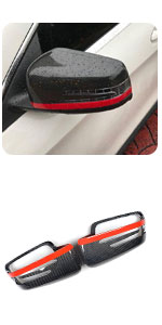 Benz W204 W212 W218 W176 W207 1:1 Replacement Carbon Fiber Mirror Covers Cap CF Rear View (Red)