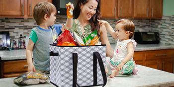 reusable grocery box bags
