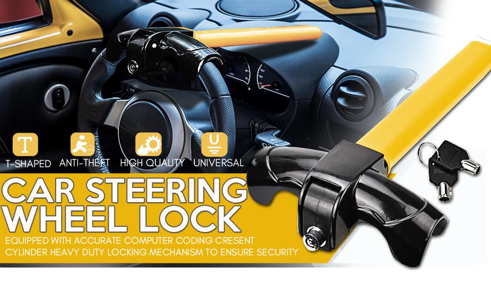 T-type Car steering wheel lock