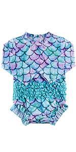 Sleeveless Dress Baby Rash Guard Girl Swimsuitfor Girls Kids Toddler Child