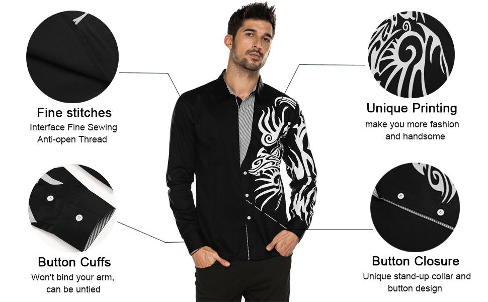 Men's Print Dress Shirt