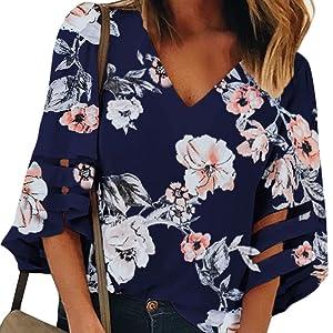 women 3/4 sleeves shirt