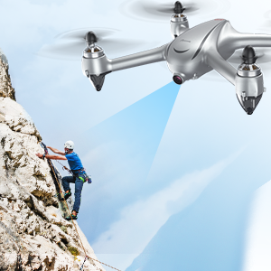 GPS Follow Me  Potensic D80 GPS Drone with Camera for Adults, 2K FHD Camera, 2 Batteries 40 Mins Quadcopter with Brushless Motor, Auto Return Home, Follow Me, Long Control Range, Includes A Carrying Case-Sliver 964deda7 2542 405a 8387 31188a1989e2
