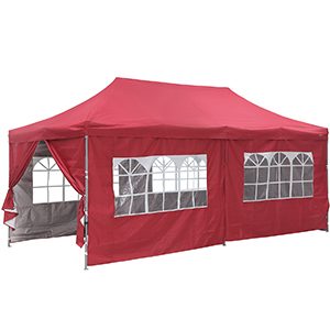 red canopy tent