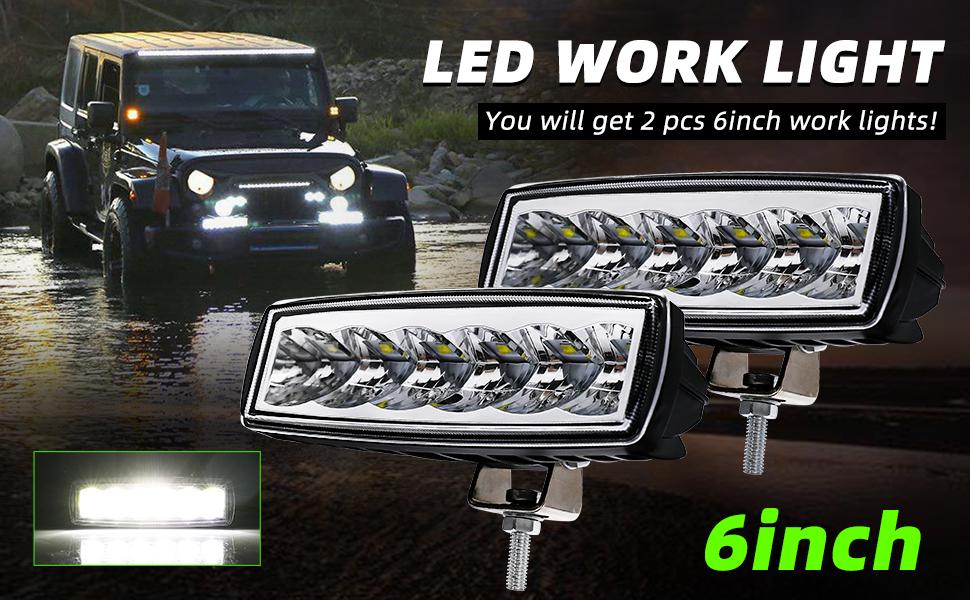 6 inch led light bar