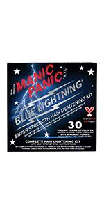 New Blue Lightning Hair Bleaching Kit- 30 Volume w/ Mega Blue Powder