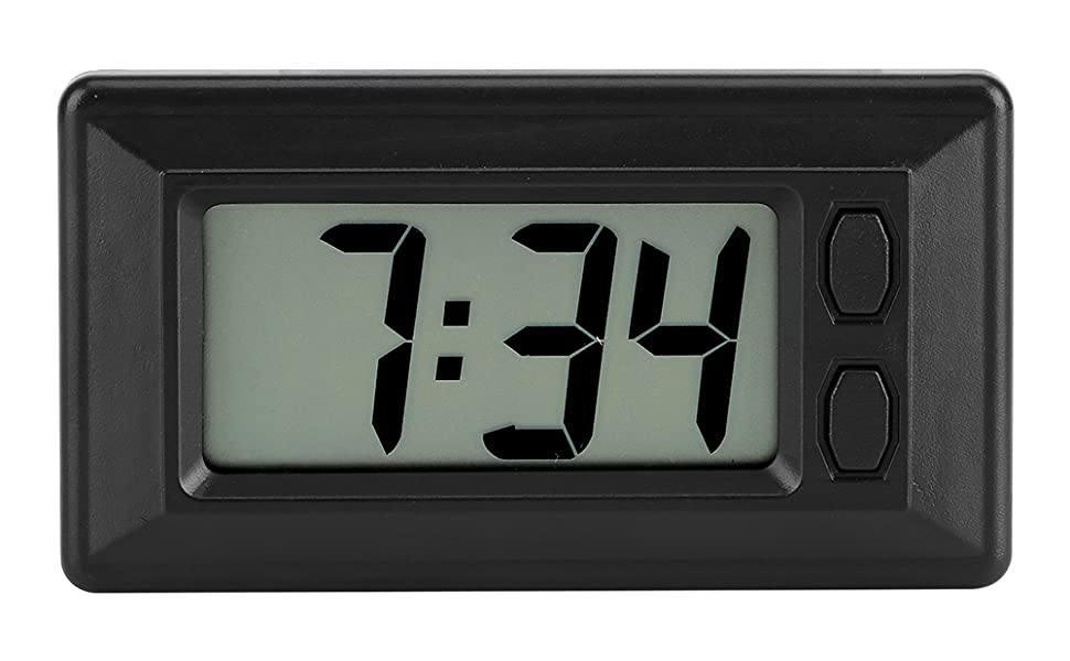 Con Batteria Termometro per Orologio per Auto 2-In-1 Orologio Digitale per Auto Led Misuratore di Temperatura Termometro per Presa dAria per Auto con Retroilluminazione DellAria per Auto
