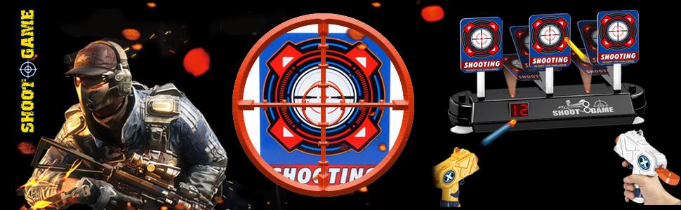 Electronic Target  Shooter for Nerf Gun Blaster
