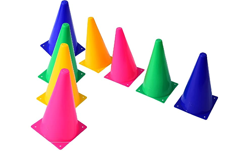 8cm Marker Training Cones Tall Sports Traffic Cones Safety Soccer Football Rugby