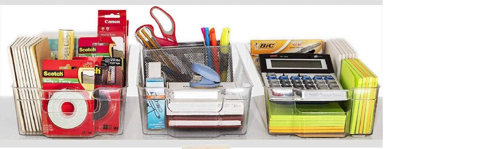 Multi-functional organizer bins