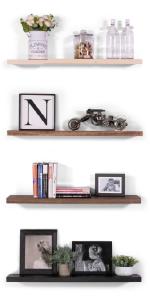 clean edge floating shelves solid wood maple poplar hardwood