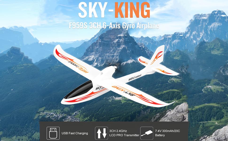 GoolRC WLtoys F959 Rey SKY-G 2.4 3CH control de radio del rtf RC ...