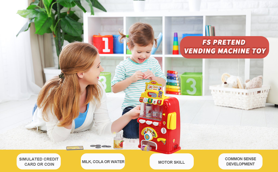 SUPER FUN & EDUCATIONAL TOY - Lifelike vending machine game gift for 5 year old girl boy