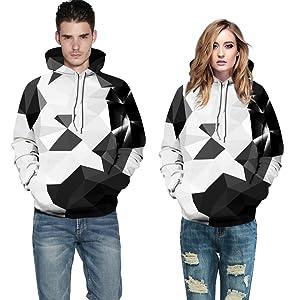 geometry print hoodie