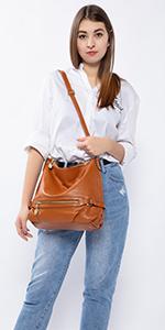 Handtasche Damen Leder Handtasche Groß Schultertasche Henkeltaschen Frauen Taschen