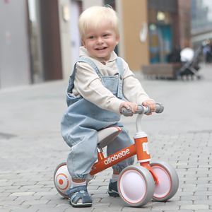 orange baby balance bike