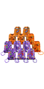 Halloween Treat Bags for Trick or Treat Party Supplies Favor Bags Drawstring Backpack