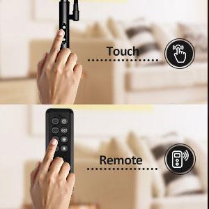 Télécommande et contrôle tactile