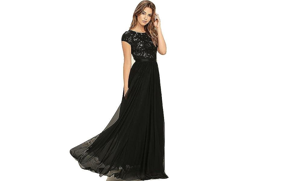 gown for women fashion party wear long latest design girls ladies new dress aline wedding night