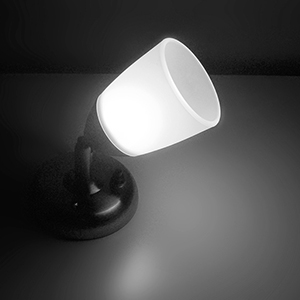 cool white book lamp