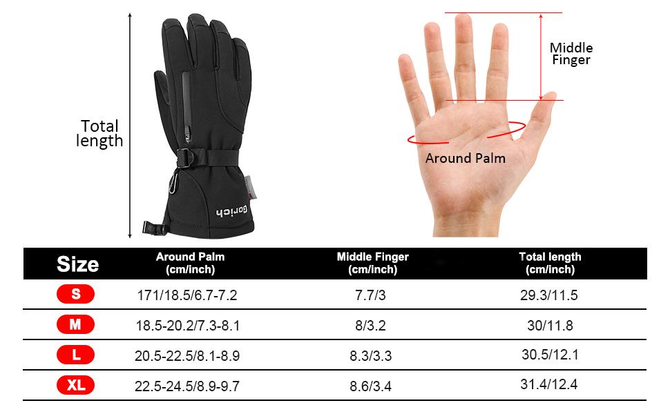 mens ski gloves waterproof insulated ski gloves men waterproof