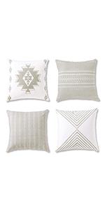 throw pillow covers, bohemian decor, decorative pillows for bed, grey throw pillow covers,decorative