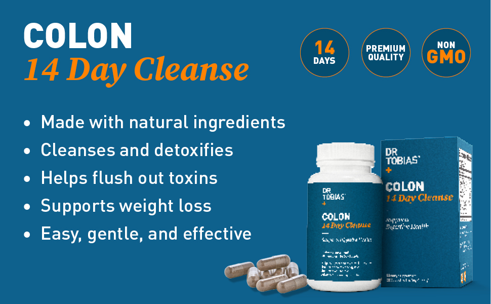 colon, 14, day, cleanse, cleansing, dr tobias, dr.tobias, natural, detox, weight loss, fat loss,