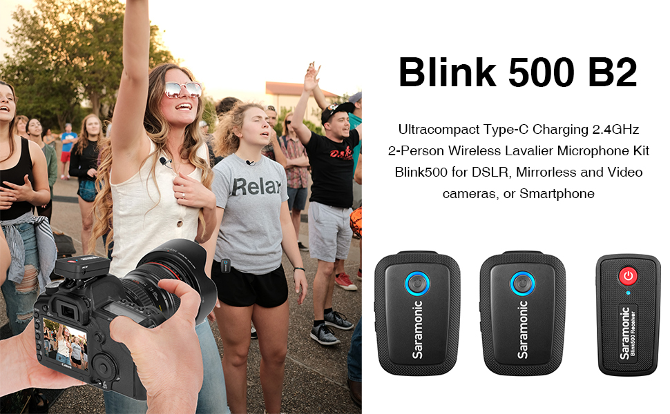 Saramonic wireless lavalier microphone blink500