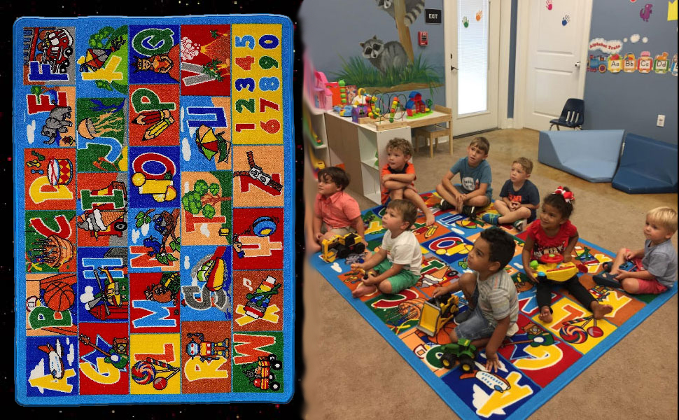 Large Classroom Rugs for Kids ABC Educational Area Rug ...
