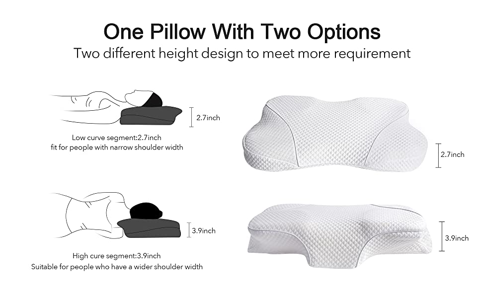 contour pillow for neck and shoulder support, arm support