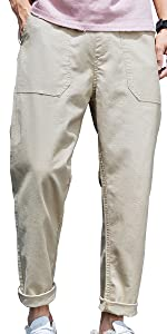 ワイド アンクル パンツ 薄手 無地 カジュアル ゆったり ロング メンズ