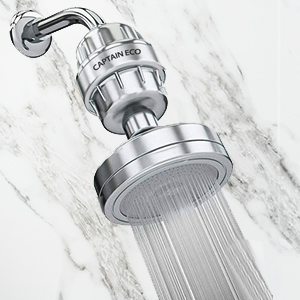 Shower head water filter