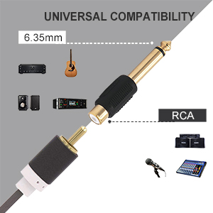 RCA TO 1/4 INCH