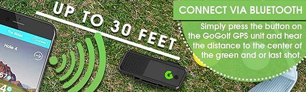 gogolf gps range finder golf club ball accessory bluetooth speaker