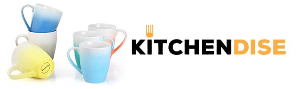 Kitchendise coffee mugs set of 6