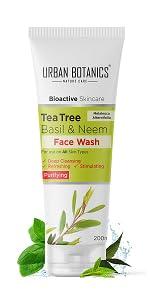 Urban Botanics Face Wash, himalaya neem face wash, garnier face wash, ponds face wash, wow face wash