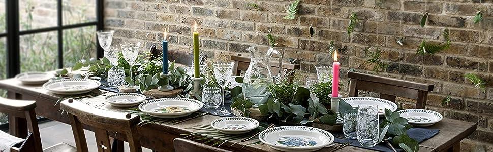 botanic garden table setting dinner party