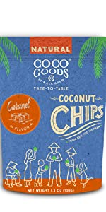 Natural Toasted Coconut Chips Caramel
