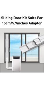 Amazon Com Gulrear Sliding Door Air Conditioner Kit Max Adjustable Length 220cm 87inch Sliding Door Ac Vent Kit Suit For 13cm 5 1inch Exhaust Hose Home Kitchen