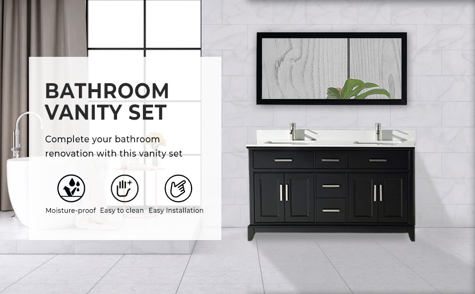Vanity Art 36 Inches Single Sink Bathroom Vanity Set White Super Phoenix Stone Top 6 Drawers 1 Shelf Undermount Rectangle Sink Cabinet With Free Mirror Va1036 G Amazon Com