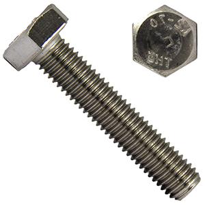 DERING Sechskantschrauben M10x25 DIN 933 Edelstahl A2 20 St/ück rostfrei | Gewindeschrauben Sechskant-Schrauben